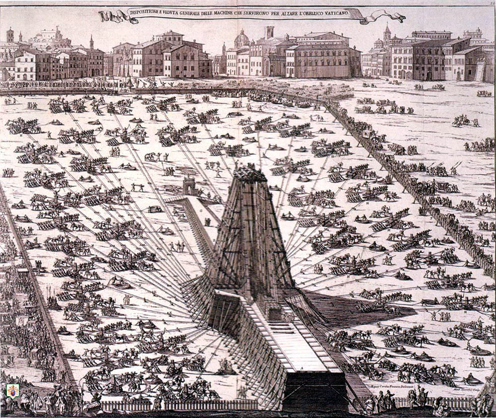 1586 Rome obelisk erection